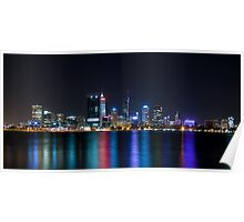 Perth Night Lights Poster
