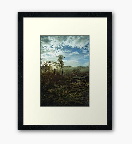 Misty Morning Cradle Mountain Framed Print