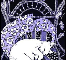Sleeping Softly (In Blue) by Anita Inverarity