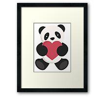 cute loving panda  Framed Print
