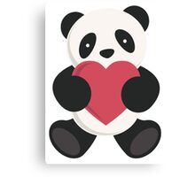cute loving panda  Canvas Print