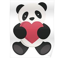 cute loving panda  Poster