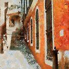 Narrow street in Loano - Italy by Gilberte