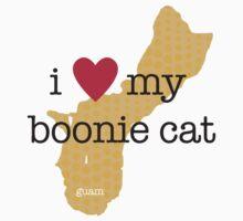 I Love My Boonie Cat (Orange) Kids Tee