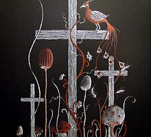 Bird Atop a Cross by DanteRabbiteer