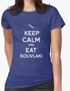 Keep Calm and Eat Souvlaki Womens Fitted T-Shirt