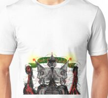 Happy Holidays from Three Headed Mutant Squid Bird with Christmas lights Unisex T-Shirt