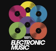 100% Electronic Music (black) by DropBass