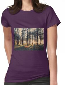 Golden Sunset in the Forest Womens Fitted T-Shirt
