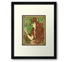 Materia Girl Framed Print
