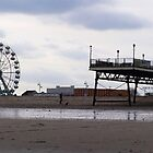 Panoramic of Skegness Pier in UK by flashcompact