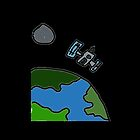 A Cartoon of earth from space by chrisp81