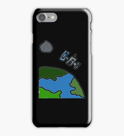 A Cartoon of earth from space iPhone Case/Skin