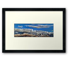 Wasatch Mountains February 23 2012 Framed Print