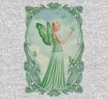 Peridot Birthstone Fairy One Piece - Long Sleeve