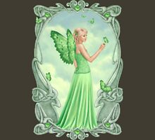 Peridot Birthstone Fairy Womens Fitted T-Shirt