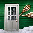 I a-door snowshoes by Elisabeth van Eyken
