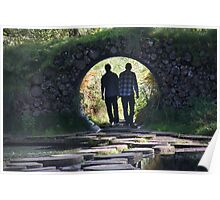 Brothers walking through tunnel Poster