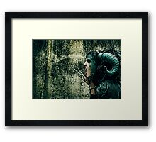 She Has Blood of Reptile Just Underneath Her Skin... Framed Print