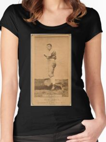 Benjamin K Edwards Collection Clarke Chicago White Stockings baseball card portrait Women's Fitted Scoop T-Shirt