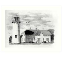 Chatham Lighthouse, Cape Cod, Ma. Art Print