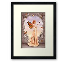 Citrine Birthstone Fairy Framed Print