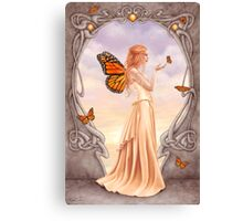 Citrine Birthstone Fairy Canvas Print
