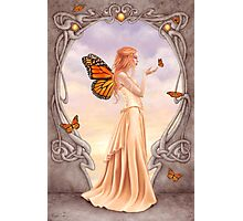 Citrine Birthstone Fairy Photographic Print