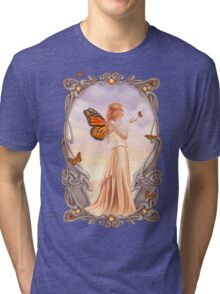 Citrine Birthstone Fairy Tri-blend T-Shirt