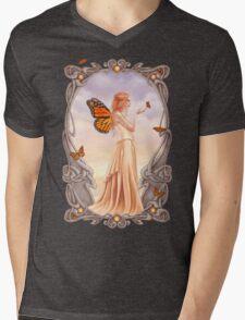 Citrine Birthstone Fairy Mens V-Neck T-Shirt
