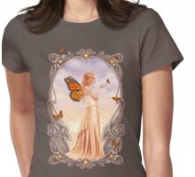 Citrine Birthstone Fairy Womens Fitted T-Shirt