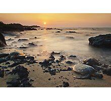 Sea Turtle Sunset Photographic Print