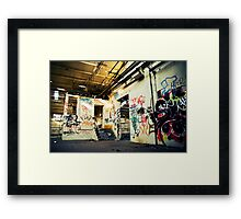 Graffiti Infection Framed Print