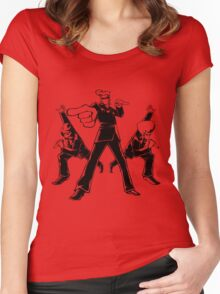Elite Beat Agents Women's Fitted Scoop T-Shirt