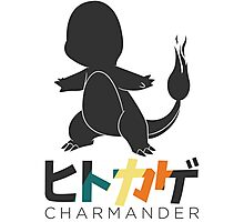 Charmander Pokémon (Japanese/English text name) Photographic Print