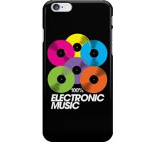 100% Electronic Music (black) iPhone Case/Skin
