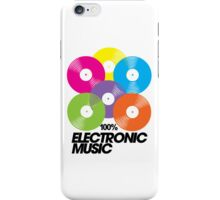 100% Electronic Music iPhone Case/Skin