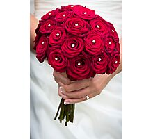 Wedding Bouquet of Red Flowers  Photographic Print