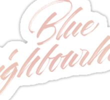 BLUE NEIGHBOURHOOD - Troye Sticker