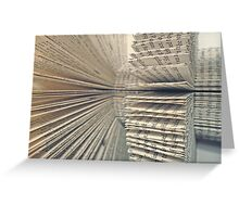 The Letter F 360 degrees. Greeting Card