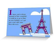 Birthday Card--Paris Greeting Card