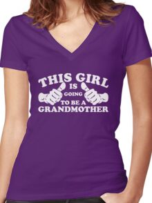 This Girl Is Going to Be A Grandmother Women's Fitted V-Neck T-Shirt