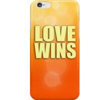 Love Wins - Orange iPhone Case/Skin