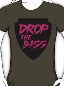 Drop The Bass Shield  T-Shirt