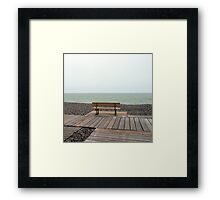 Bench & Sea Framed Print