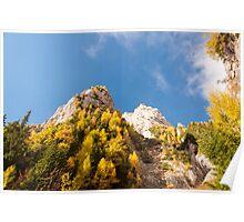 Autumn on the mountains Poster
