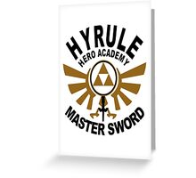 Hyrule Hero Academy Master Sword Greeting Card