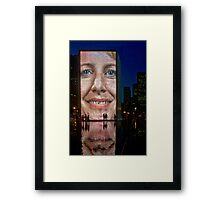 Crown Fountain Chicago Framed Print