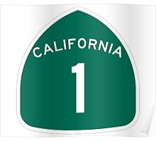 California Highway 1 T-Shirt - State Route One Road Sign Sticker PCH Poster