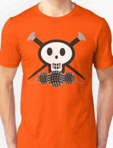 Knitting needles skull and yarn t-shirt Unisex T-Shirt